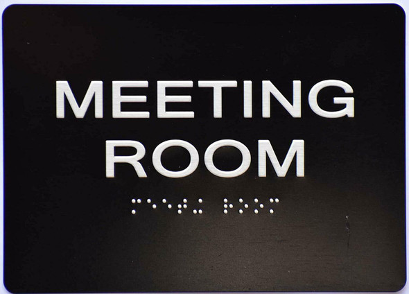 Meeting Room Sign -Black,