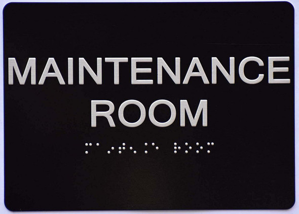 Maintenance Room Sign -Tactile Signs  The Sensation line Ada sign