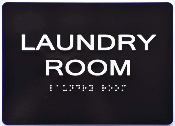 ada Laundry Room Sign black