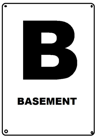 HPD NYC BASEMENT FLOOR NUMBER SIGN