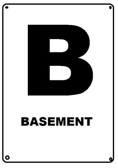 HPD NYC BASEMENT FLOOR NUMBER SIGN