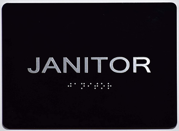 Janitor Sign   The Sensation line -Tactile Signs  Ada sign
