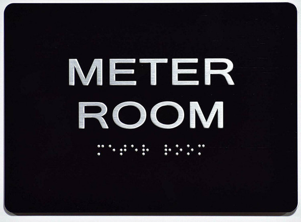 Meter Room Sign -Tactile Signs    The Sensation line Ada sign