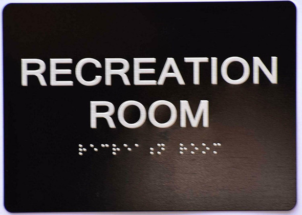 Recreation Room Sign -Black,