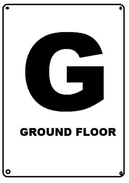 HPD NYC GROUND FLOOR SIGN