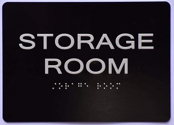 Storage Room Sign -Black