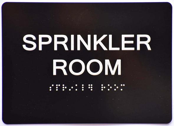 Sprinkler Room Sign -Black,