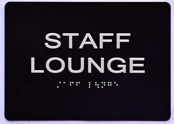 Staff Lounge Sign -Tactile Signs  The Sensation line Ada sign