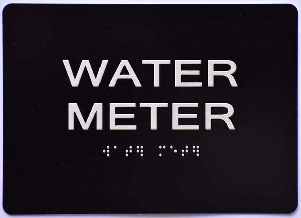 WATER METER Sign BLACK ADA