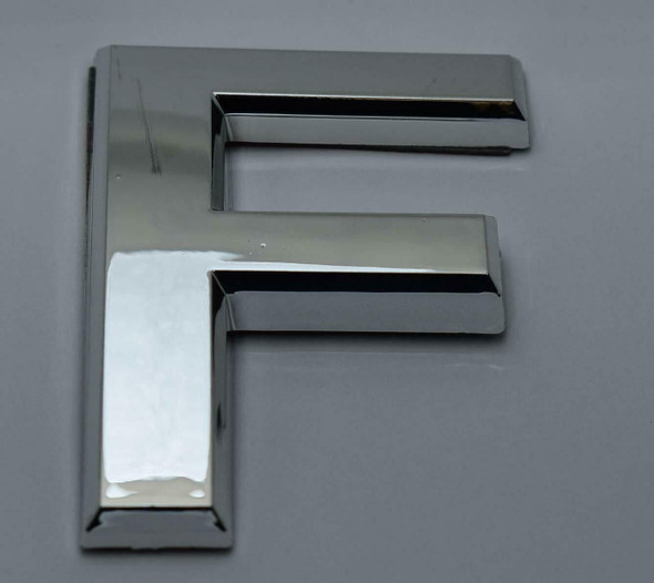 1 PCS - Apartment Number Sign/Mailbox Number Sign, Door Number Sign. Letter F Silver,3D