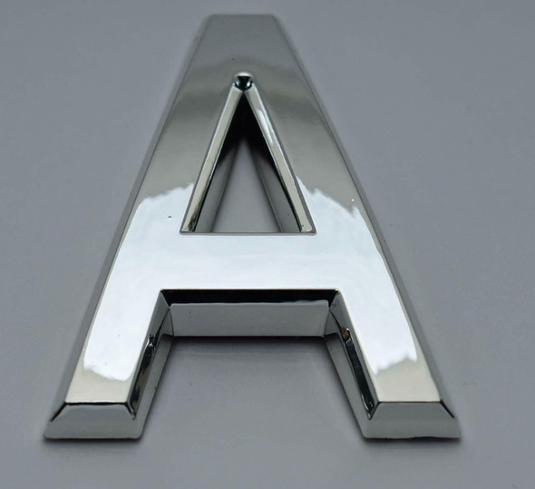 1 PCS - Apartment Number Sign/Mailbox Number Sign, Door Number Sign. Letter A Silver,3D