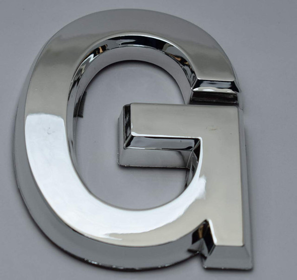 1 PCS - Apartment Number Sign/Mailbox Number Sign, Door Number Sign. Letter G Silver,3D