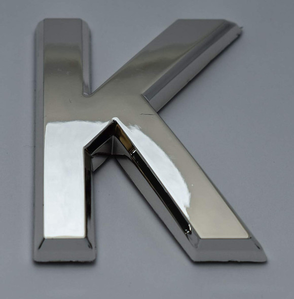 1 PCS - Apartment Number Sign/Mailbox Number Sign, Door Number Sign. Letter K Silver,3D