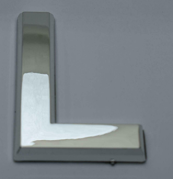 1 PCS - Apartment Number Sign/Mailbox Number Sign, Door Number Sign. Letter L Silver,3D