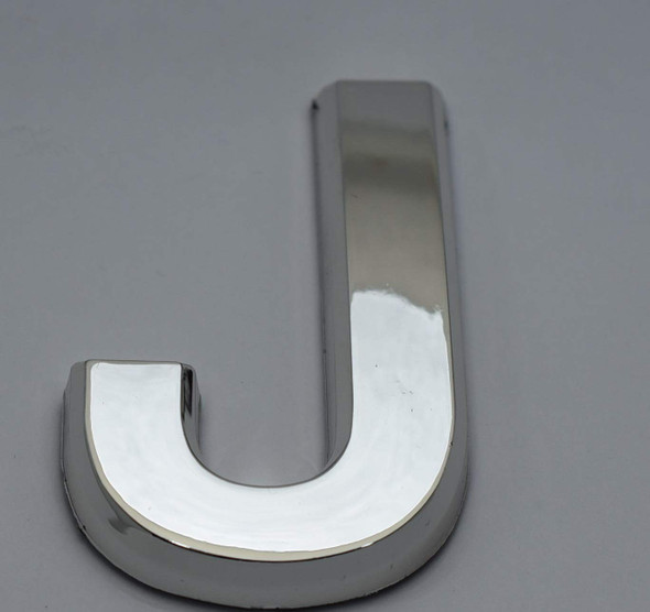 1 PCS - Apartment Number Sign/Mailbox Number Sign, Door Number Sign. Letter J Silver,3D