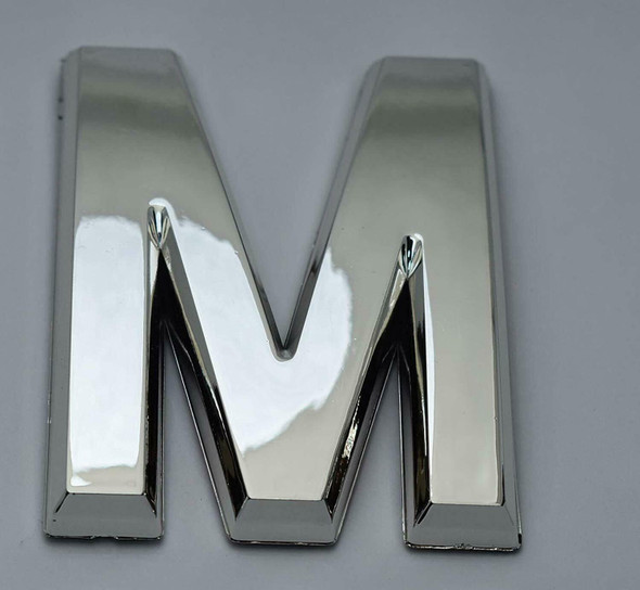 1 PCS - Apartment Number Sign/Mailbox Number Sign, Door Number Sign. Letter M Silver,3D