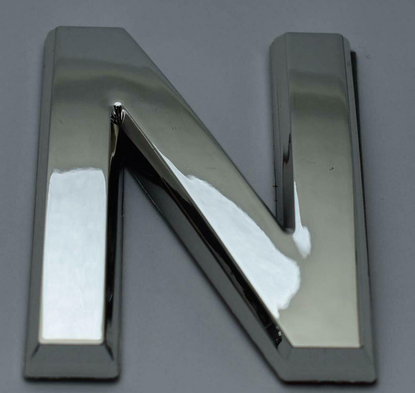 1 PCS - Apartment Number Sign/Mailbox Number Sign, Door Number Sign. Letter N Silver,3D