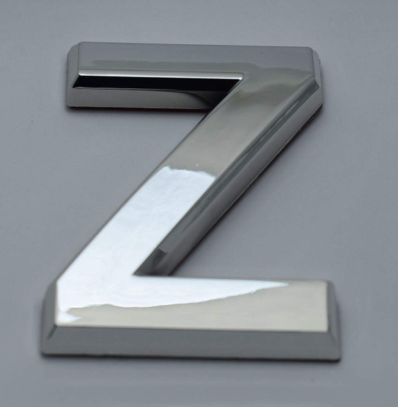 1 PCS - Apartment Number Sign/Mailbox Number Sign, Door Number Sign. Letter Z Silver,3D