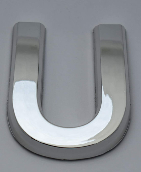 1 PCS - Apartment Number Sign/Mailbox Number Sign, Door Number Sign. Letter U Silver,3D