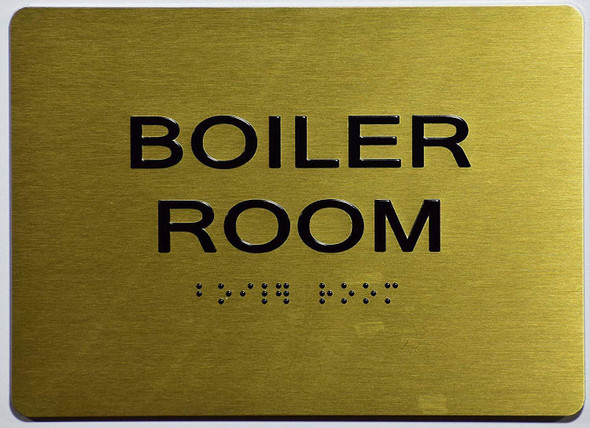Boiler Room Sign -Gold,