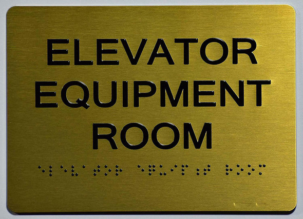 Elevator Equipment Room Sign -Tactile Signs Tactile Signs  The Sensation line Ada sign