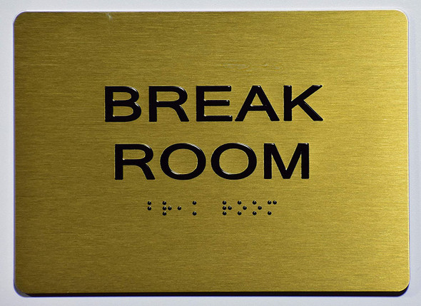 Break Room Sign -Gold,
