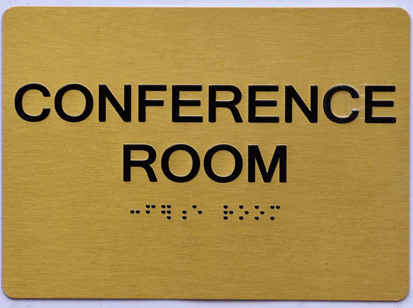 Conference Room Sign -Gold,