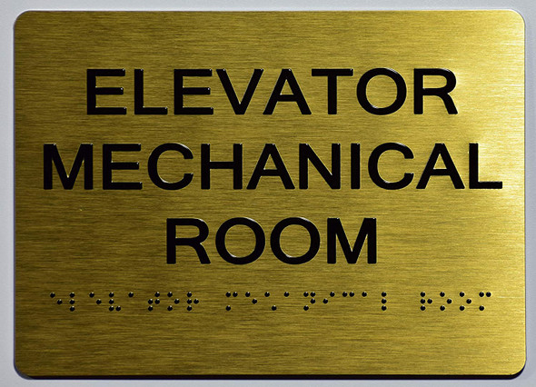 Elevator Mechanical Room Sign -Tactile Signs Tactile Signs   The Sensation line Ada sign