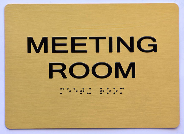 Meeting Room Sign- Gold,