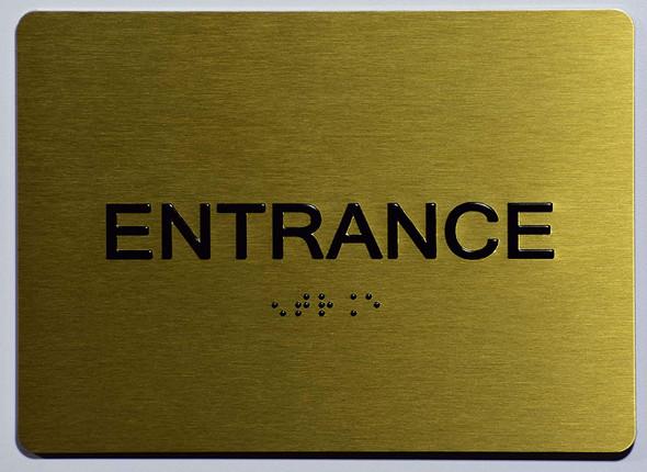 Gold Entrance SIGNAGE-Tactile SIGN