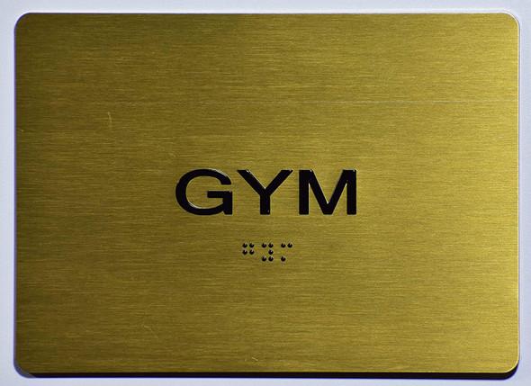 Gym Sign -Tactile Signs   The Sensation line Ada sign