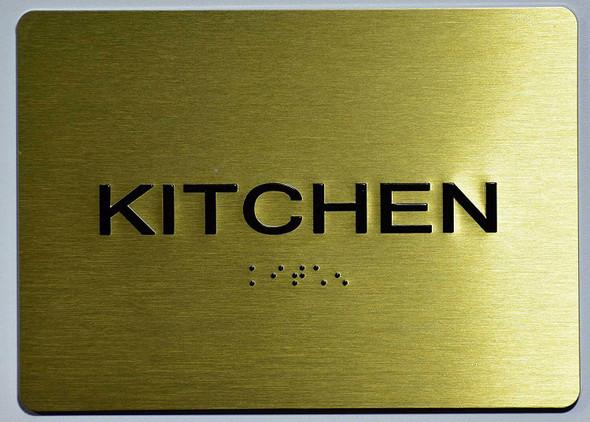 Kitchen Sign- Gold,