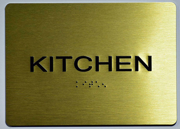 Kitchen Sign -Tactile Signs Tactile Signs   The Sensation line Ada sign