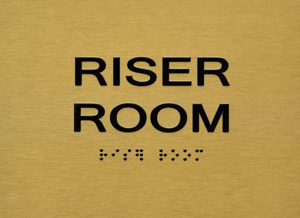 Riser Room Sign -Tactile Signs   The Sensation line Ada sign