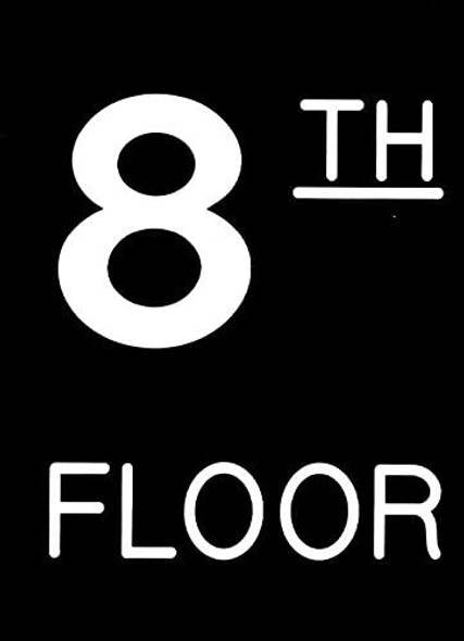 Floor number Sign - one (1) Engraved (PLASTIC)