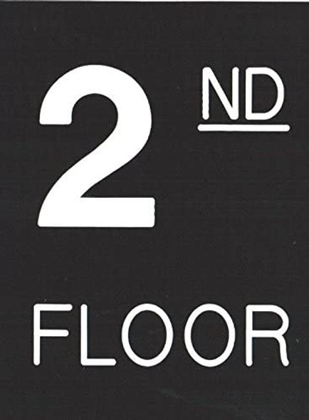Floor number Sign -Two (2) Engraved (PLASTIC)