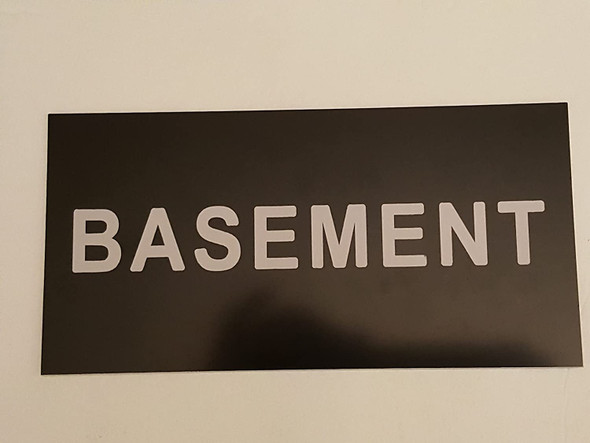 Floor number Sign -Basement sign Engraved Plastic