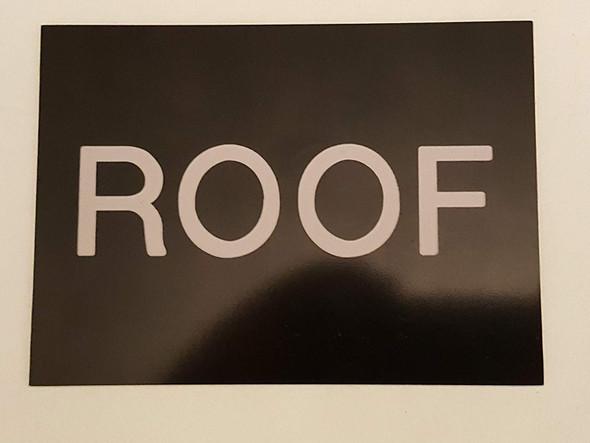 Floor number Roof sign Engraved Plastic-