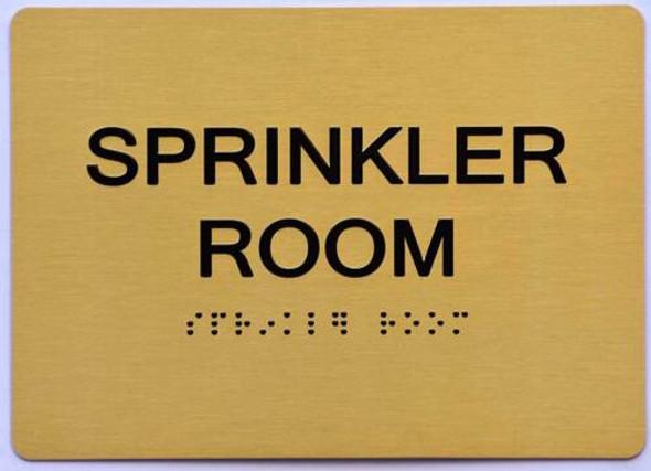 Sprinkler Room Sign- Gold,