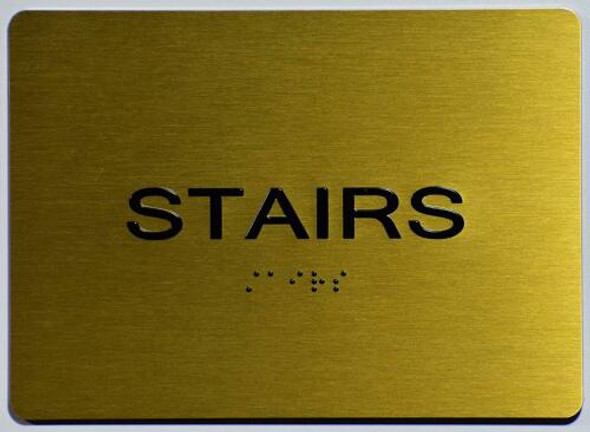 Stairs Sign - Gold