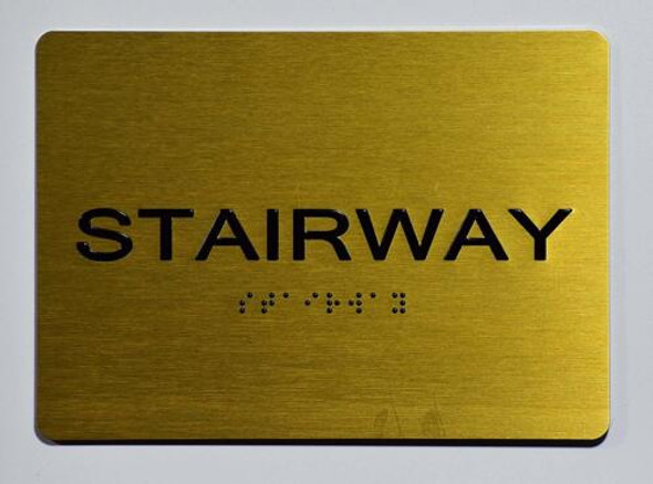Stairway Sign- Gold