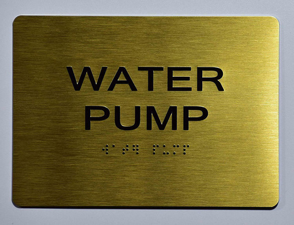 Water Pump Sign- Gold,