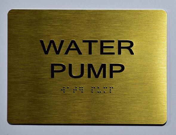 Water Pump Sign Ada Sign