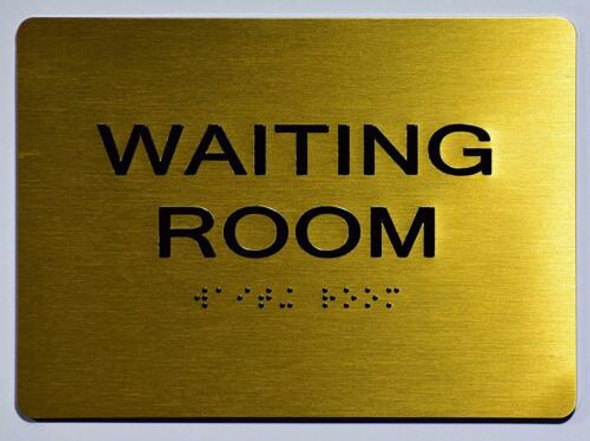 Waiting Room Sign - Gold,
