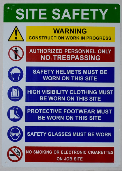 PPE Sign - Site Safety Rules Sign