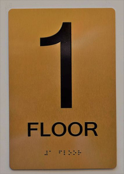 Floor 1 Sign -Tactile Signs Tactile Signs  1ST Floor Sign -Tactile Signs Tactile Signs   The Sensation line Ada sign
