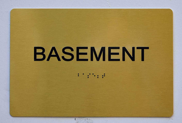 Basement Sign - Gold,