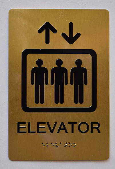 Elevator Sign -Ada Sign