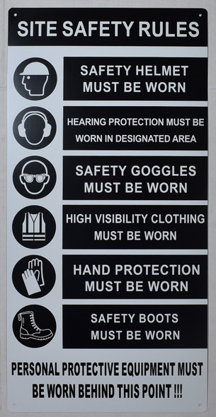 dob nyc dob personal protection equipment sign