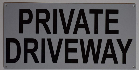NO PARKING Private Driveway Sign